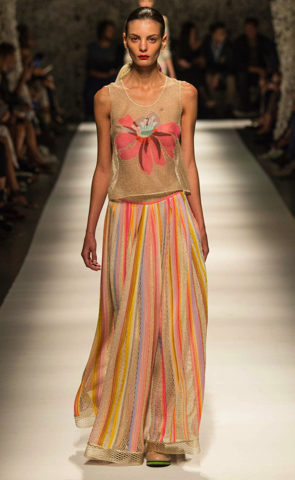 Missoni style maxi dress